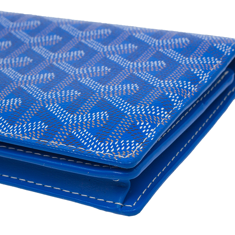 Goyard Blue Coated Canvas Long Bi Fold Wallet