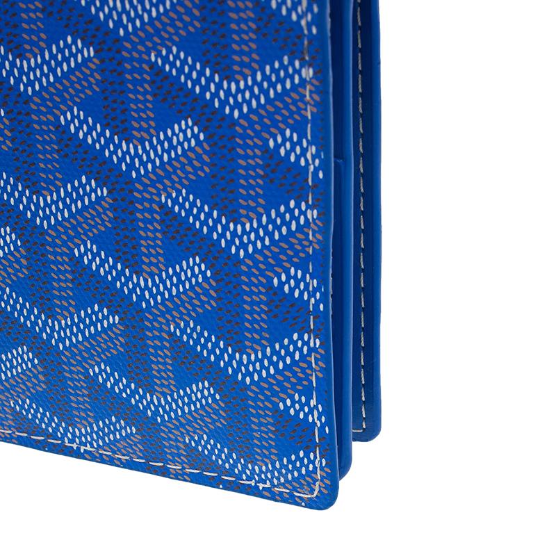 Goyard Blue Coated Canvas Long Bi Fold Wallet