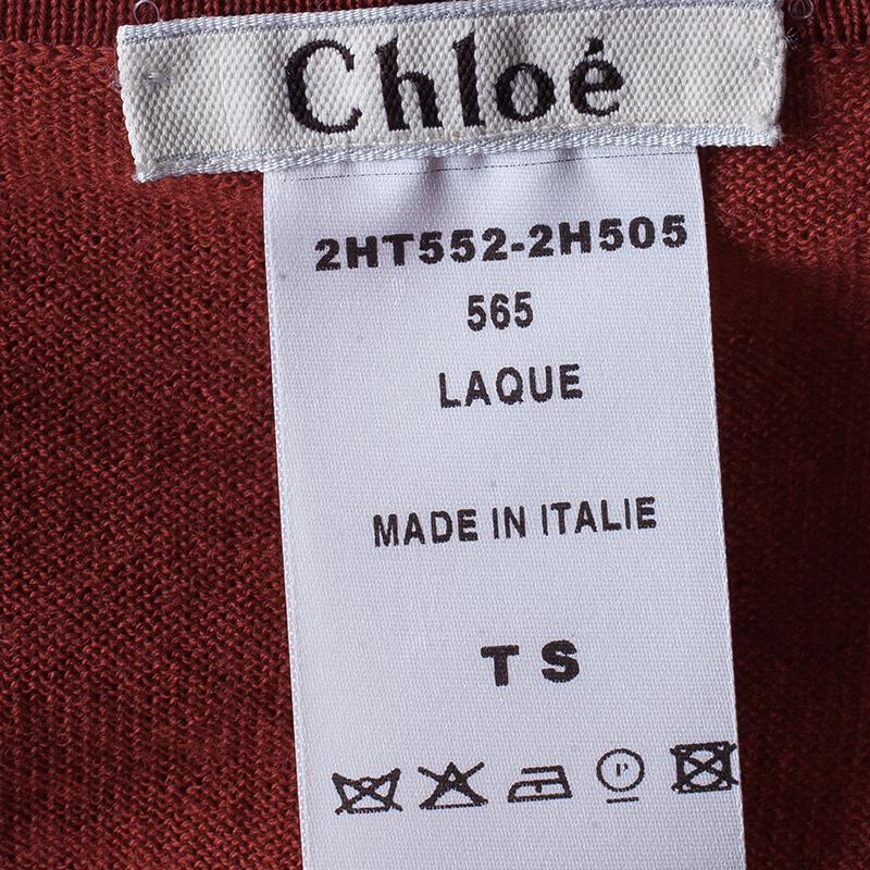 Chloe Red Sleeveless Sweater Size S