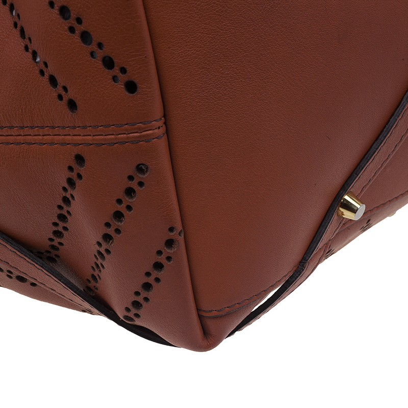 Burberry Brown Leather Dinton Shopper Tote