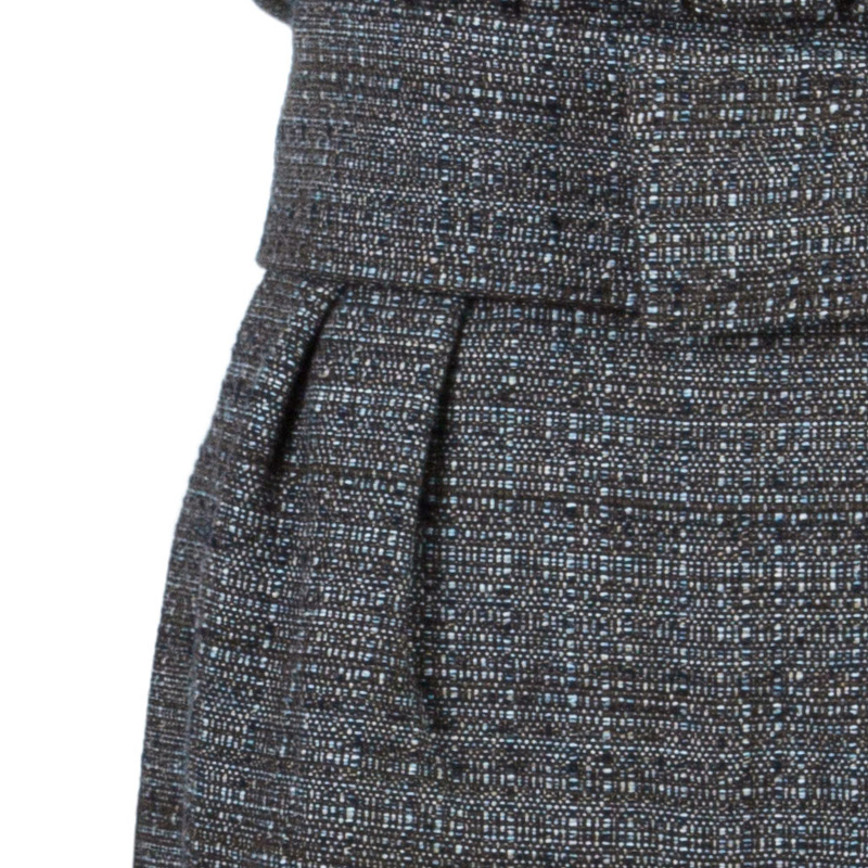 Philosophy di Alberta Ferretti Wool Belted Dress L