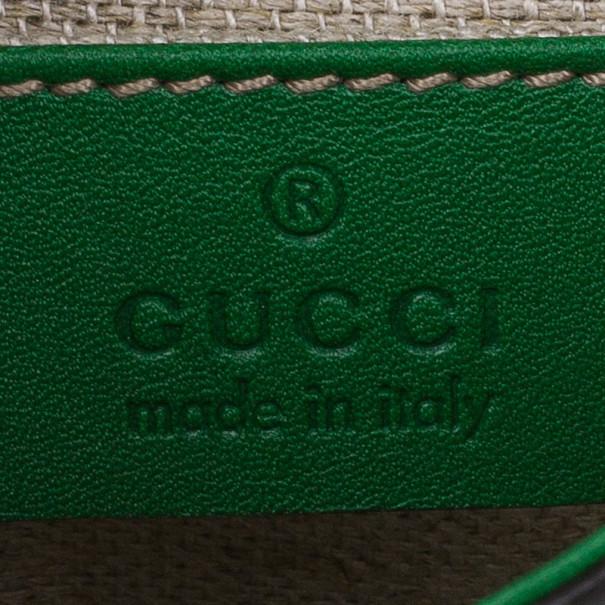 Gucci Green Suede Tigrette Shoulder Bag
