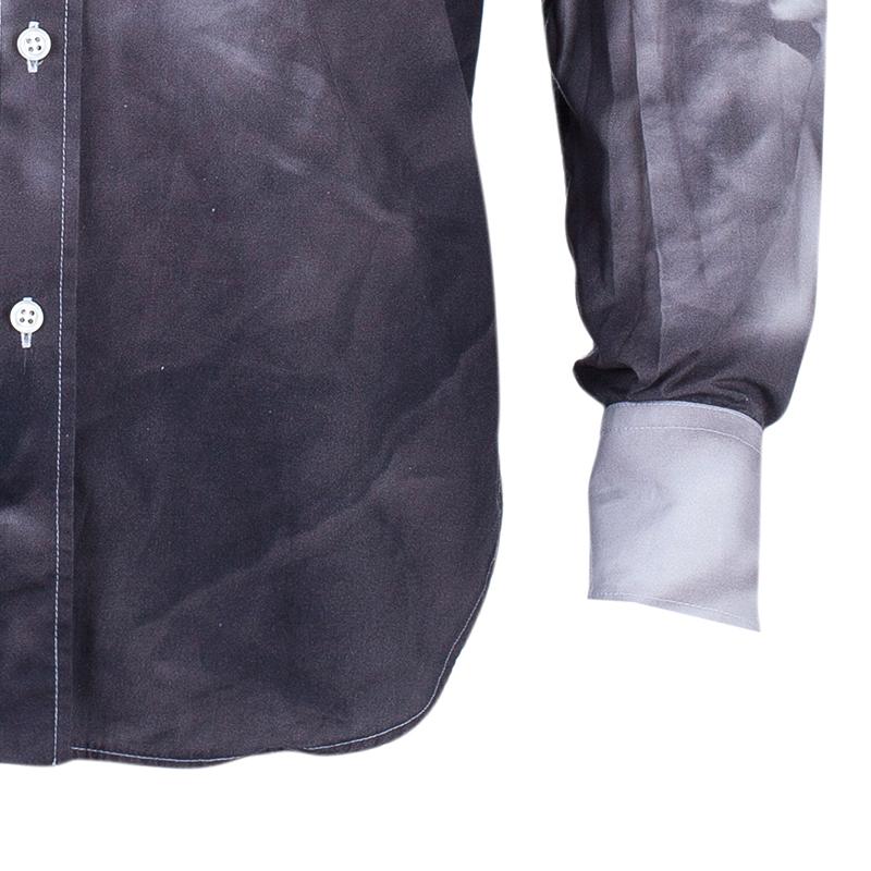 Alexander McQueen Grey and White Men's Shirt XL