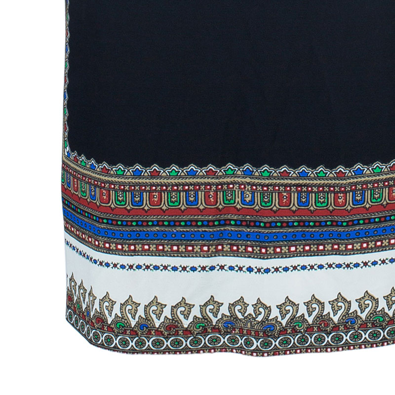Givenchy Multicolored Scarf Print Skirt M