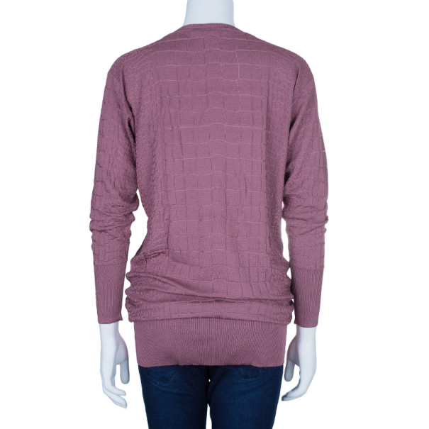 Gucci Mauve Textured Knit Top M