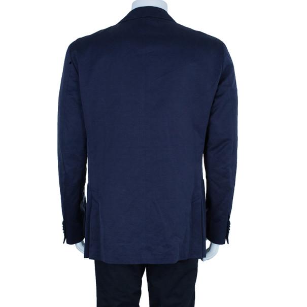 Z Zegna Navy Single Breasted Men's Blazer XL