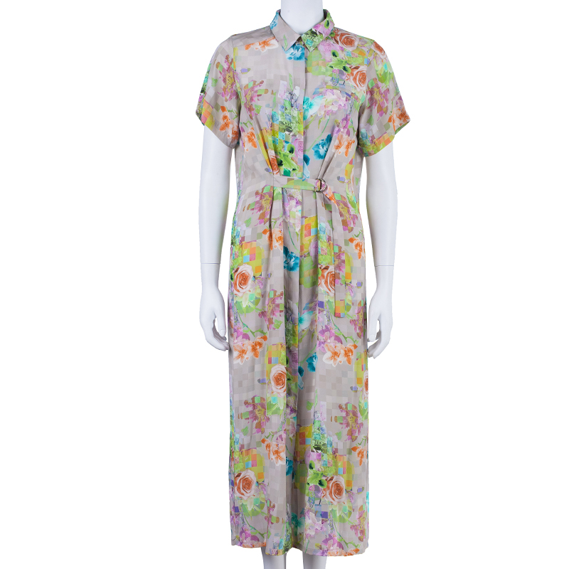 Matthew Williamson Printed Button Down Shirt Dress M