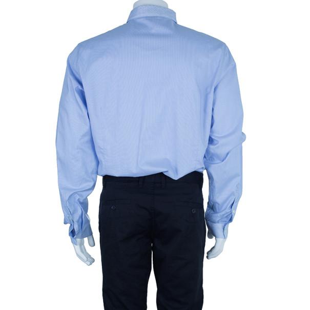 Just Cavalli Light Blue Cotton Men's Shirt  XXXL