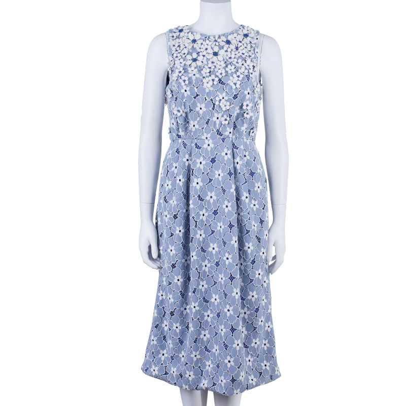 Matthew Williamson Floral Textured Dress M