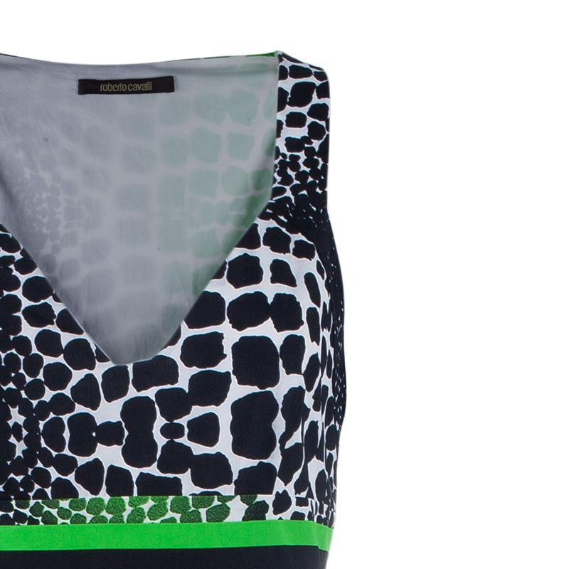 Roberto Cavalli Cotton Tiered Maxi Dress M