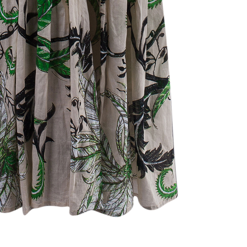 Roberto Cavalli Cotton Tiered Maxi Dress M