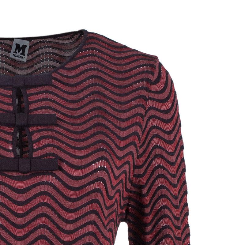 M Missoni Red Wave Knit Dress L