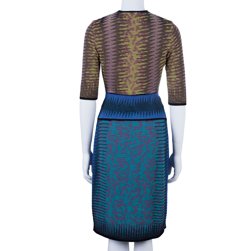 M Missoni Multicolor Knot Detail Dress M