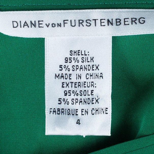 Diane von Furstenberg Whitman Stretch Silk Top S