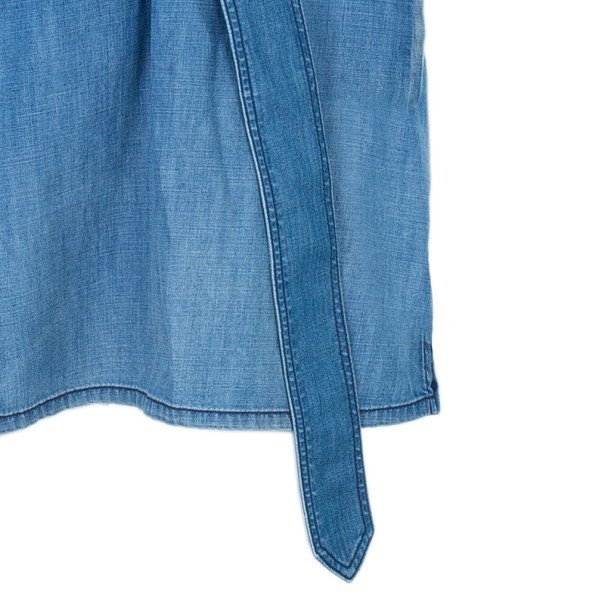 Burberry Denim Pleated Yoke Dress M