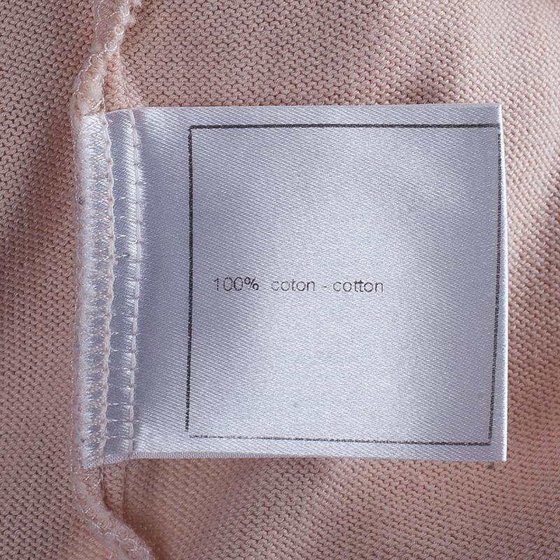 Chanel Blush Pink Knit Top M