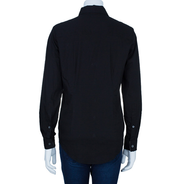 Burberry Black Contrast Cuff Shirt M