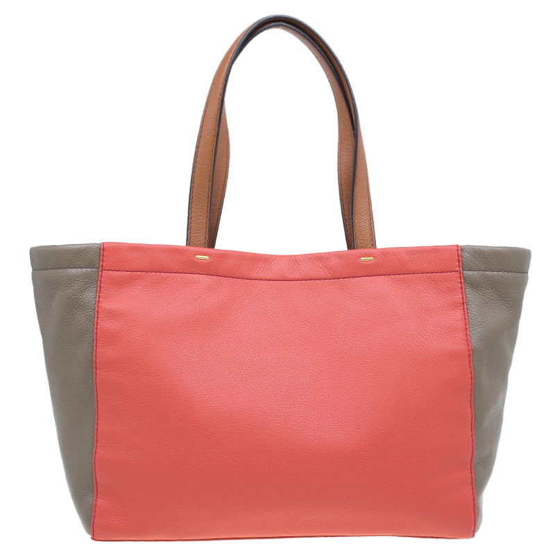 Marc by Marc Jacobs Rose Two Tone Leather What's the T Tote Bag