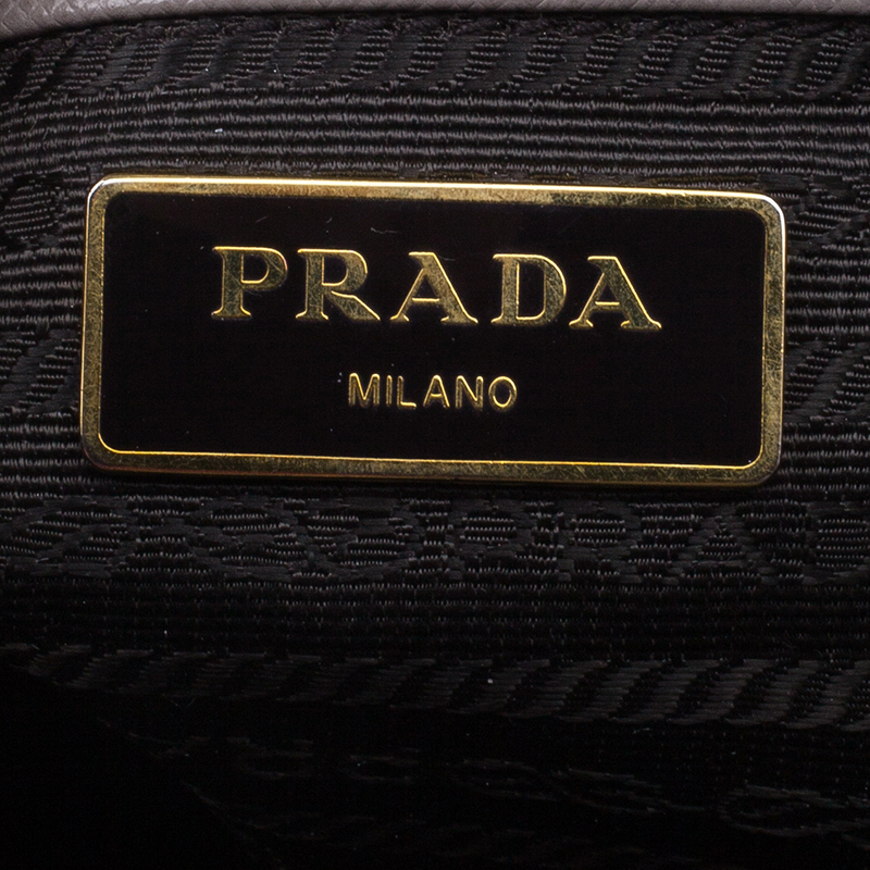 Prada Grey Saffiano Medium Lux Tote