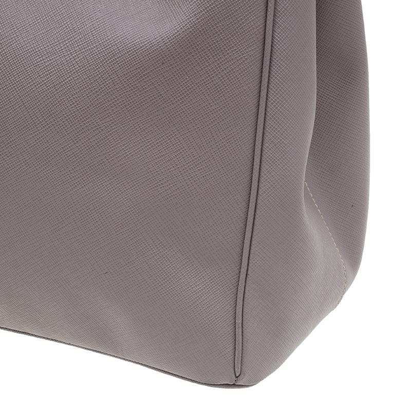 Prada Grey Saffiano Medium Lux Tote
