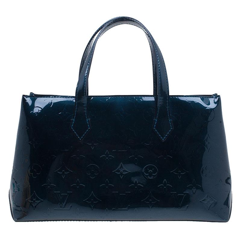 Louis Vuitton Green Monogram Vernis Wilshire Satchel PM