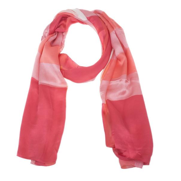Burberry Pink Novacheck Silk Stole