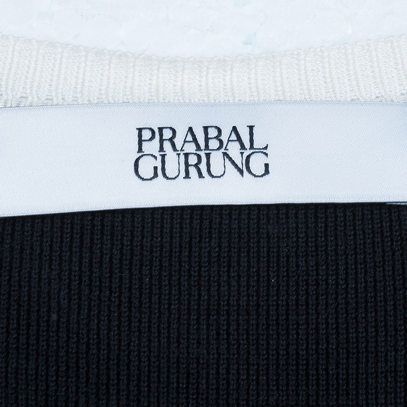 Prabal Gurung Monochrome Lace Top S