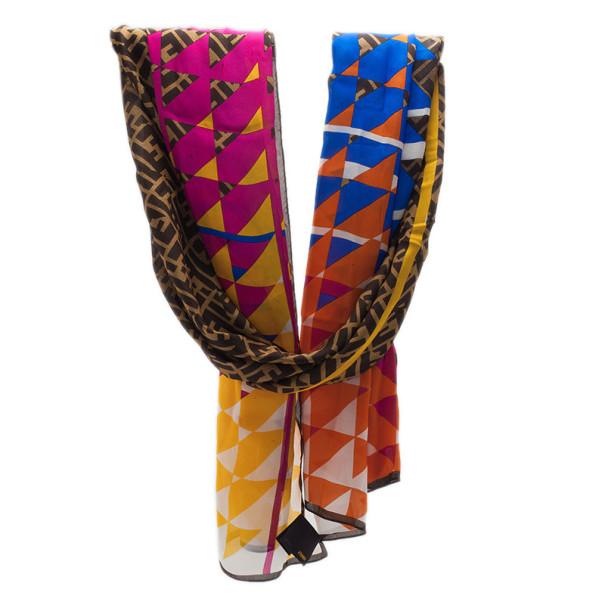 Fendi Zucchino Multicolor Silk Stole