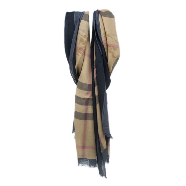 Burberry Novacheck Modal and Cashmere Brown Stole