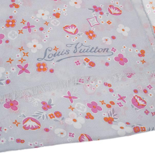 Louis Vuitton Grey Floral Stole