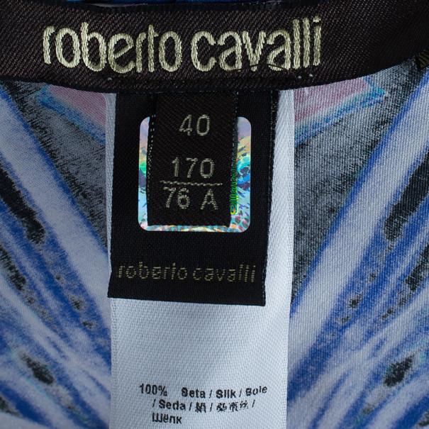 Roberto Cavalli Pink Hued Silk Palazzo Pants S