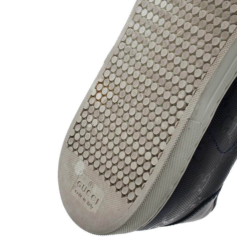 Gucci Blue Leather Guccissima Sneakers Size 37