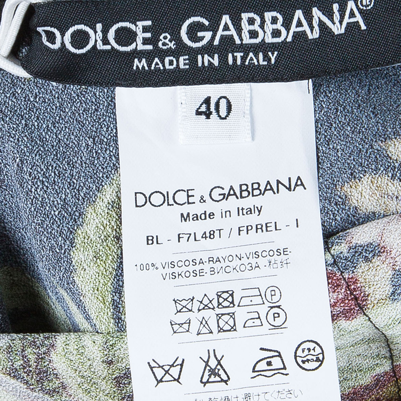 Dolce and Gabbana Floral Long Sleeve Top S