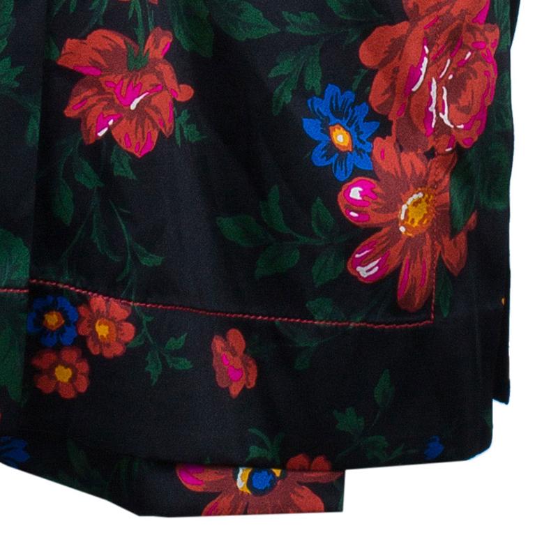 Celine Multicolor Floral Print Kimono Top M