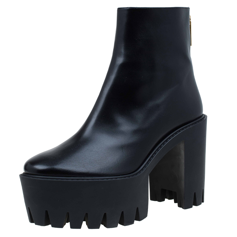a4e082309c85 Stella McCartney Black Faux Leather Hadley Platform Ankle Boots Size 40 -  Buy   Sell - LC