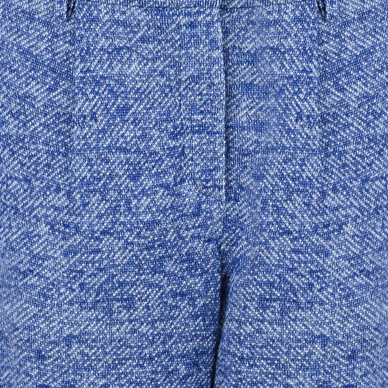 Chanel Blue Tweed Trousers M