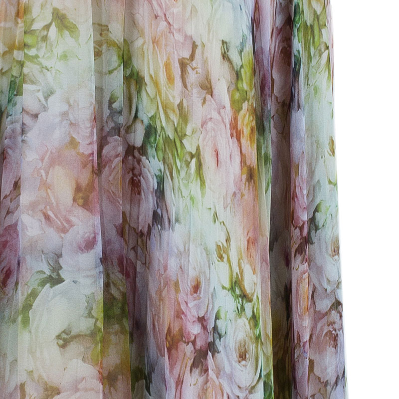 Valentino Floral Print Maxi Skirt S