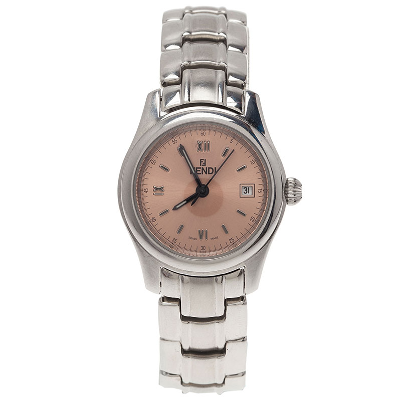 Fendi Pink Stainless Steel 210L Women's Wristwatch 34MM