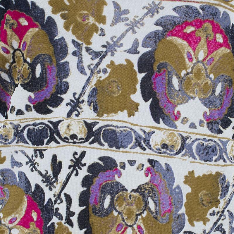 Class by Roberto Cavalli Pink Printed Turtleneck Dress S