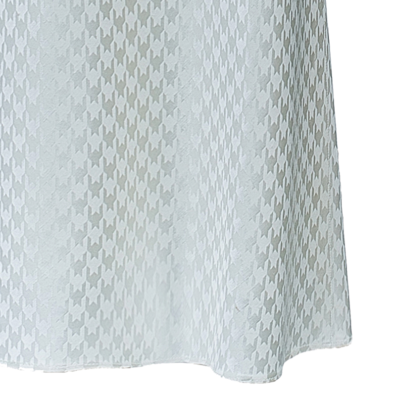 Givenchy Couture Cream Houndstooth Maxi Skirt L