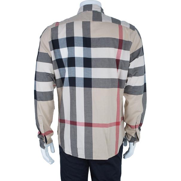 Burberry Novacheck Button Down Men's Shirt L