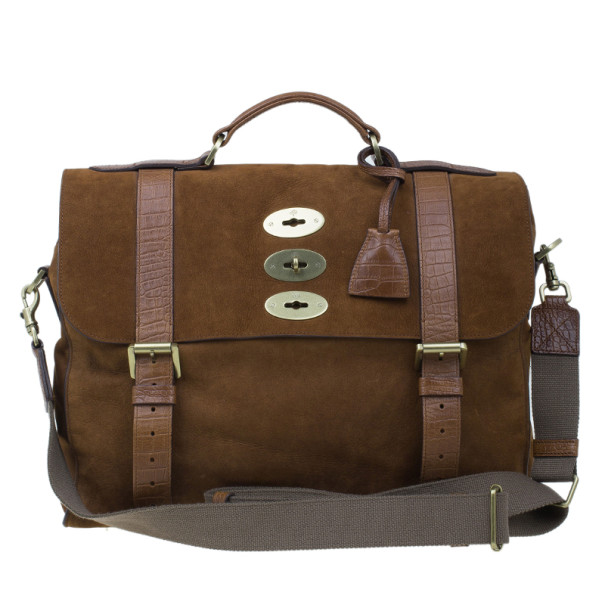 Mulberry Cognac Leather Ted Convertible Messenger Bag