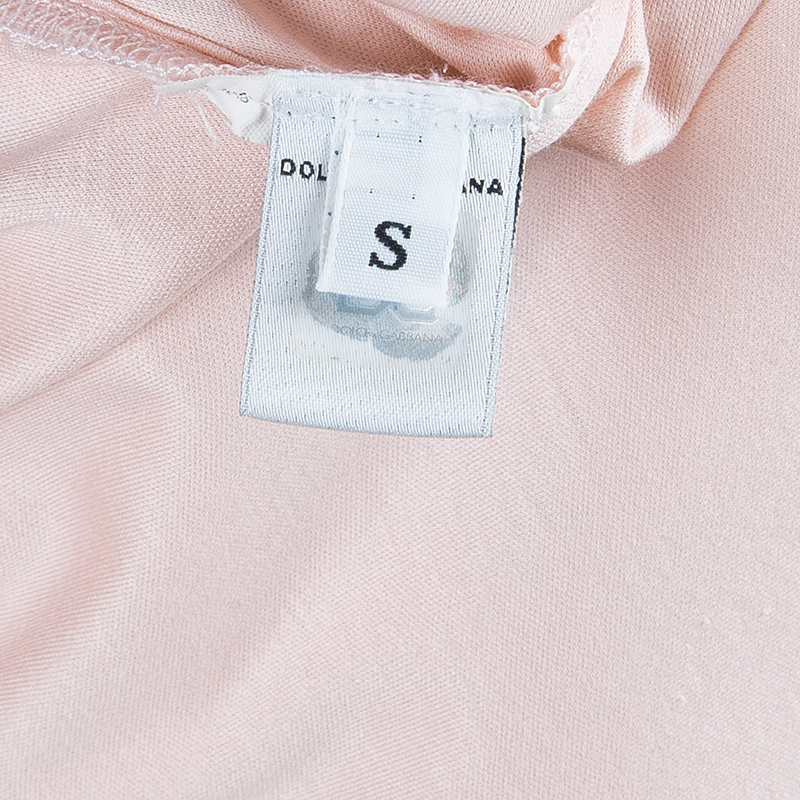 D and G Pale Blush Pink Sleeveless Top S