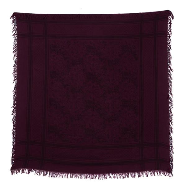 Gucci Purple Printed Wool and Silk Scarf