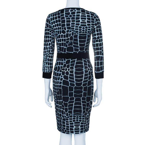 Just Cavalli Monochrome Stretch Jersey Dress M