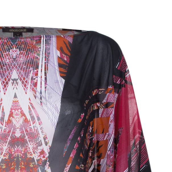 Roberto Cavalli Abstract Printed Top And Skirt Set S/M