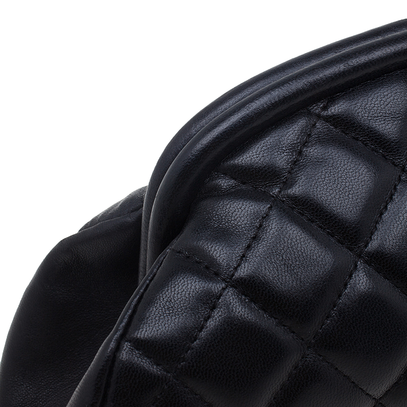 Chanel Black Quilted Leather Timeless Clutch