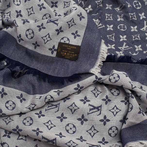 Louis Vuitton Blue Monogram Denim Square Shawl