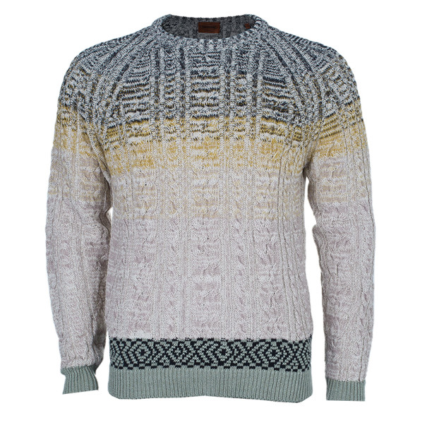 Buy Missoni Men\'s Cable Knit Degrade Sweater M at best price | TLC