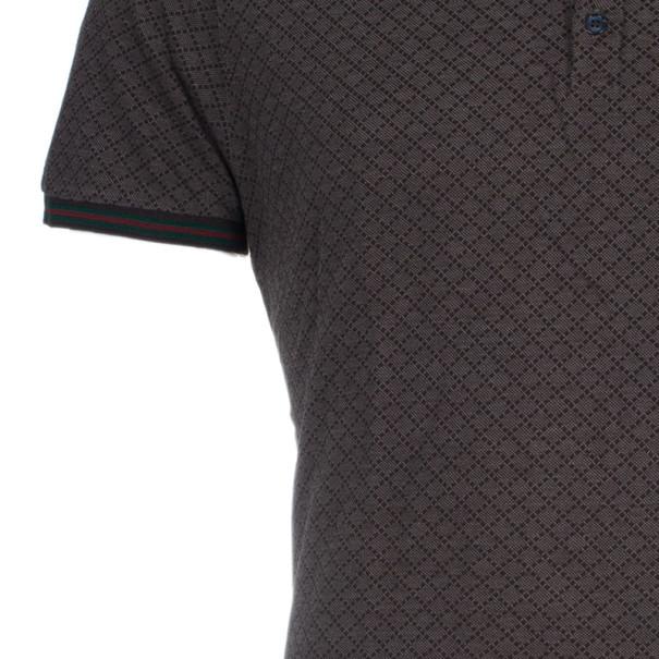 Gucci Men's Brown Cotton Pique Polo Shirt XL